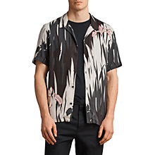 Buy AllSaints Nahiku Hawaiian Shirt, Black/Chalk Online at johnlewis.com