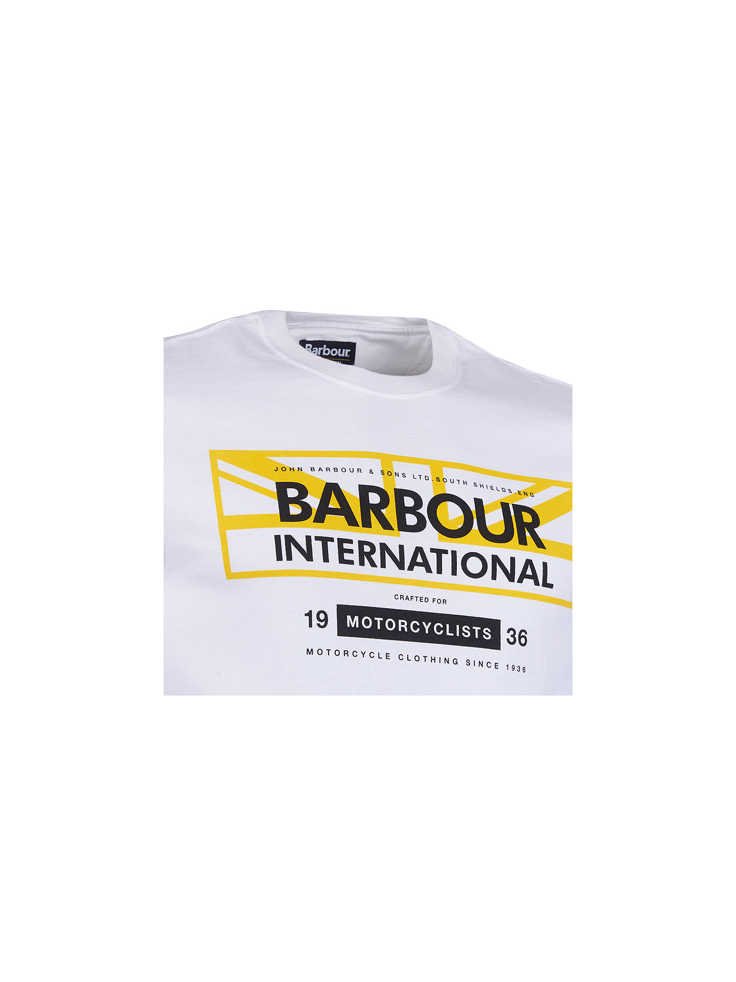 BuyBarbour International Slim Fit Union Graphic T-Shirt, White, XL Online at johnlewis.com