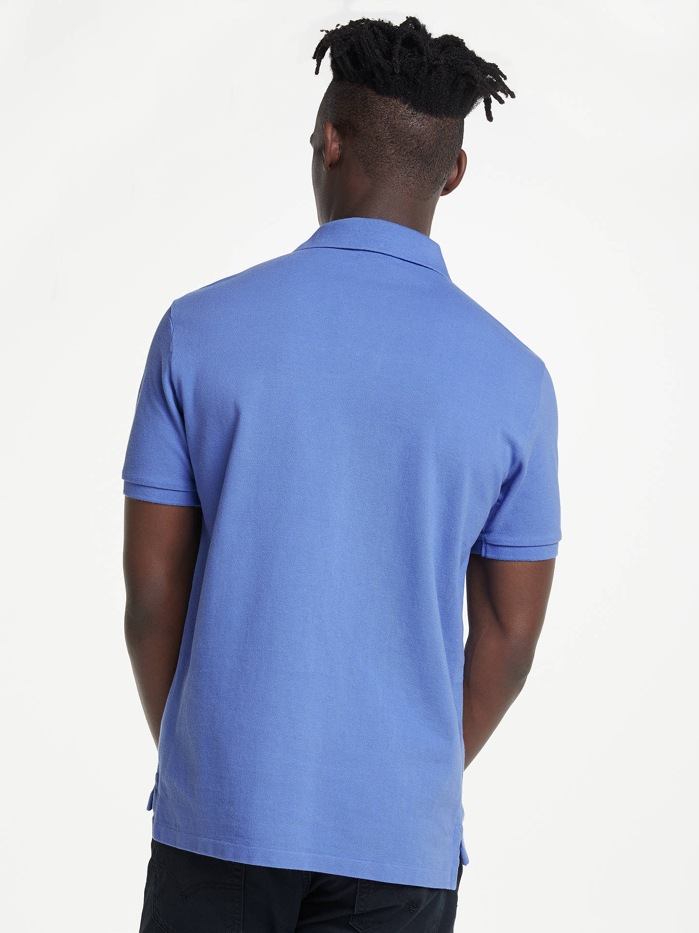 Buy Polo Ralph Lauren Custom Slim Fit Weathered Polo Shirt, City Blue, XL Online at johnlewis.com