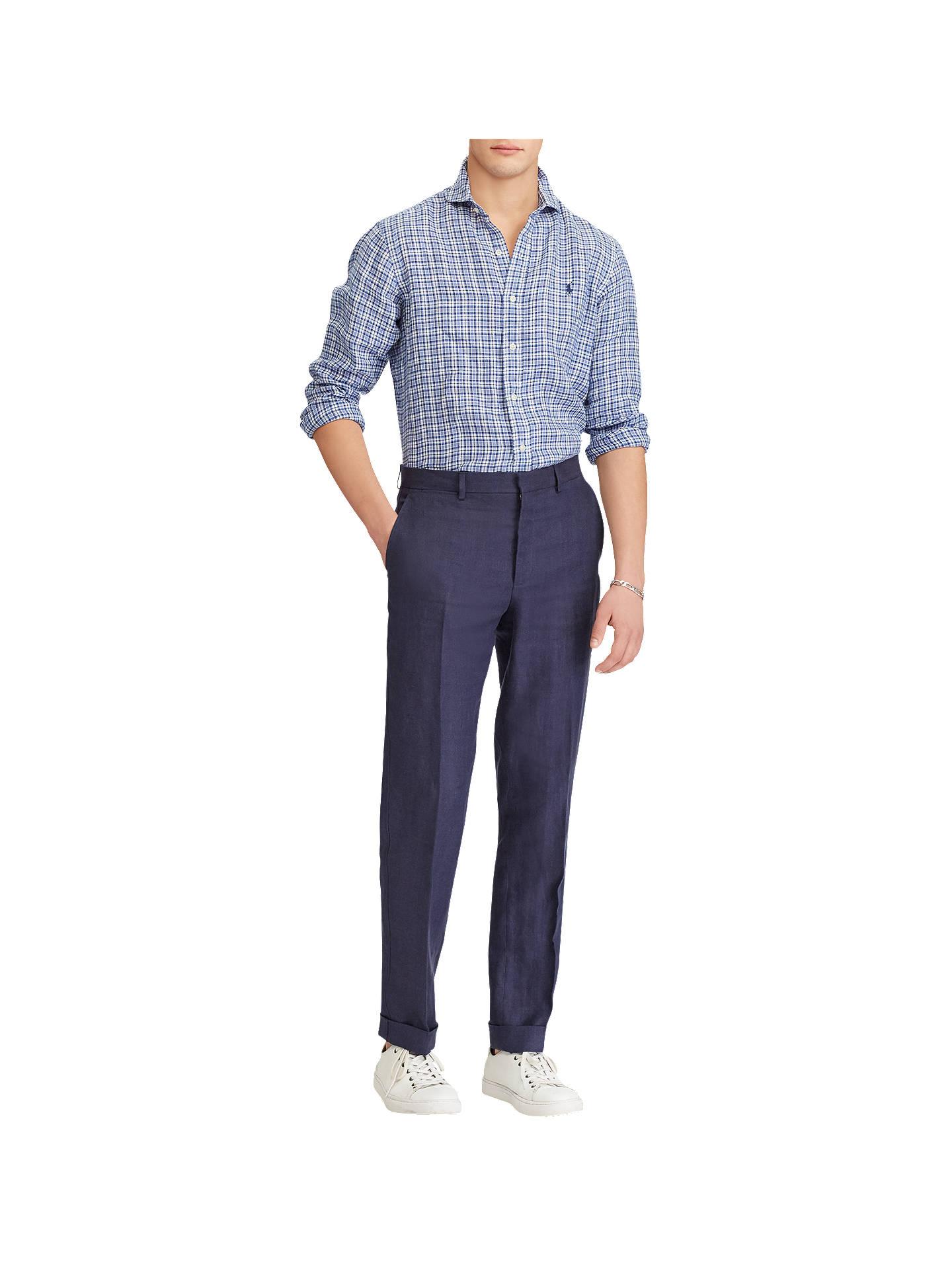 1ccc4a7a5d Ralph Lauren Linen Shirt Navy - DREAMWORKS