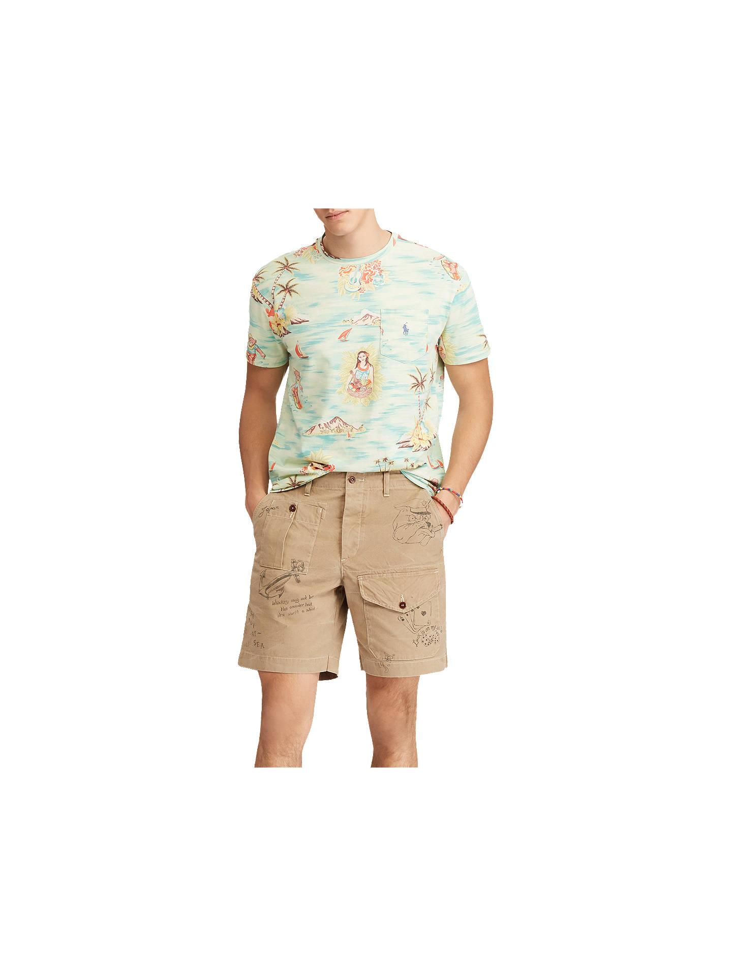 0c68ab939 ... Buy Polo Ralph Lauren Crew Neck Hawaiian Printed T-Shirt, Prepster  Hawaiian, S ...