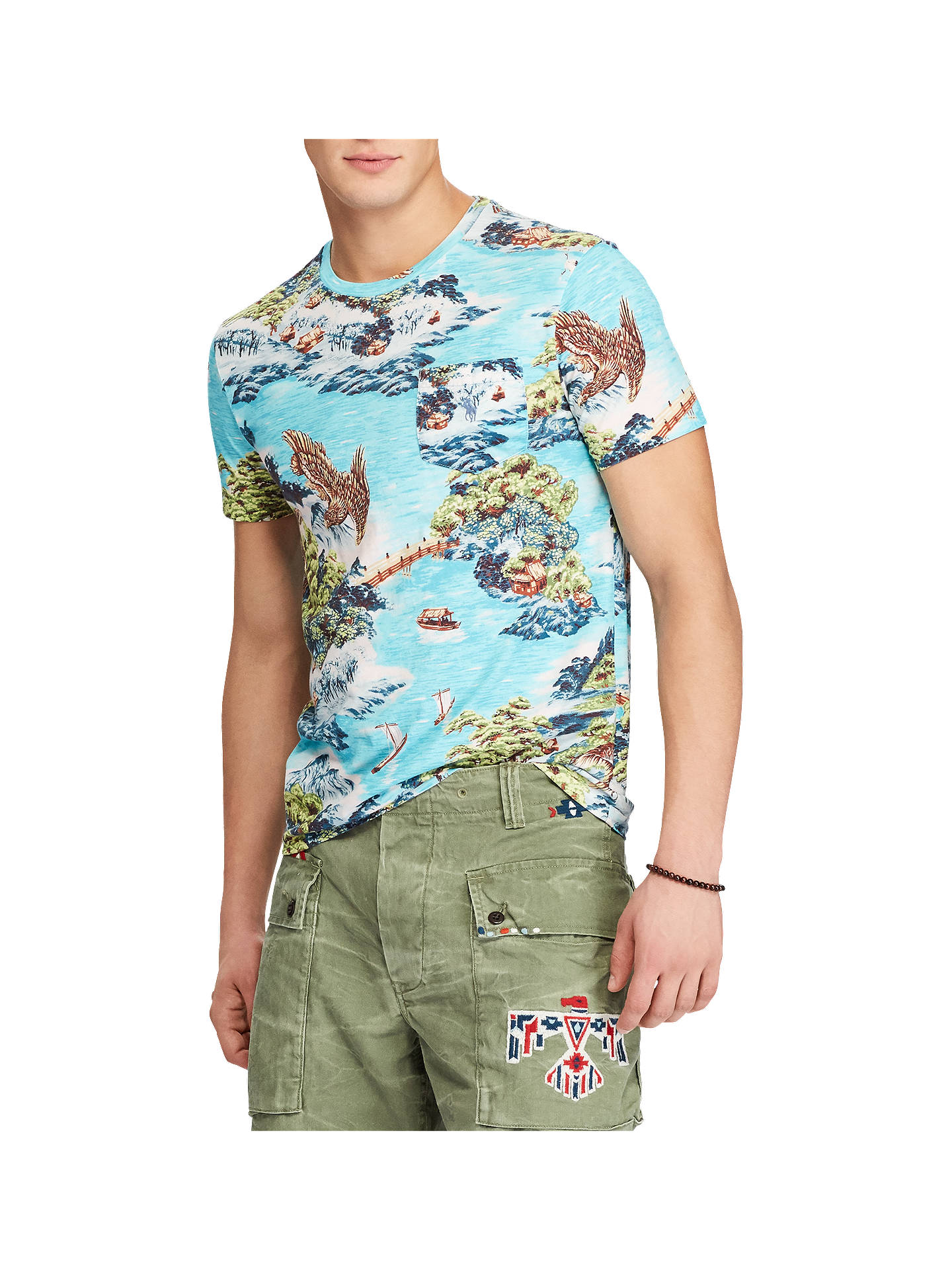 d174ae25ad Buy Polo Ralph Lauren Crew Neck Hawaiian Printed T-Shirt