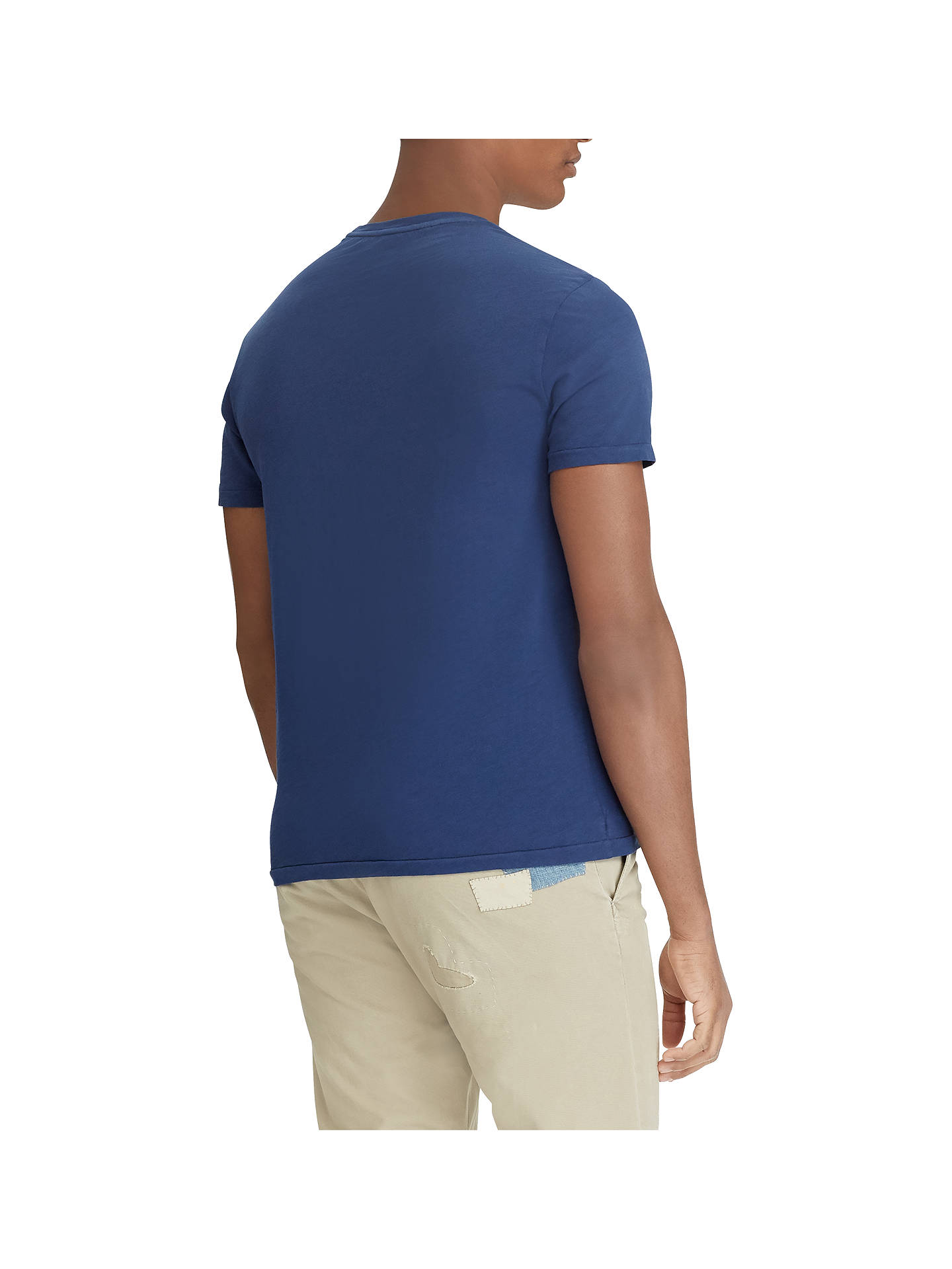 BuyPolo Ralph Lauren Crew Neck Graphic T-Shirt, Newport Navy, S Online at johnlewis.com