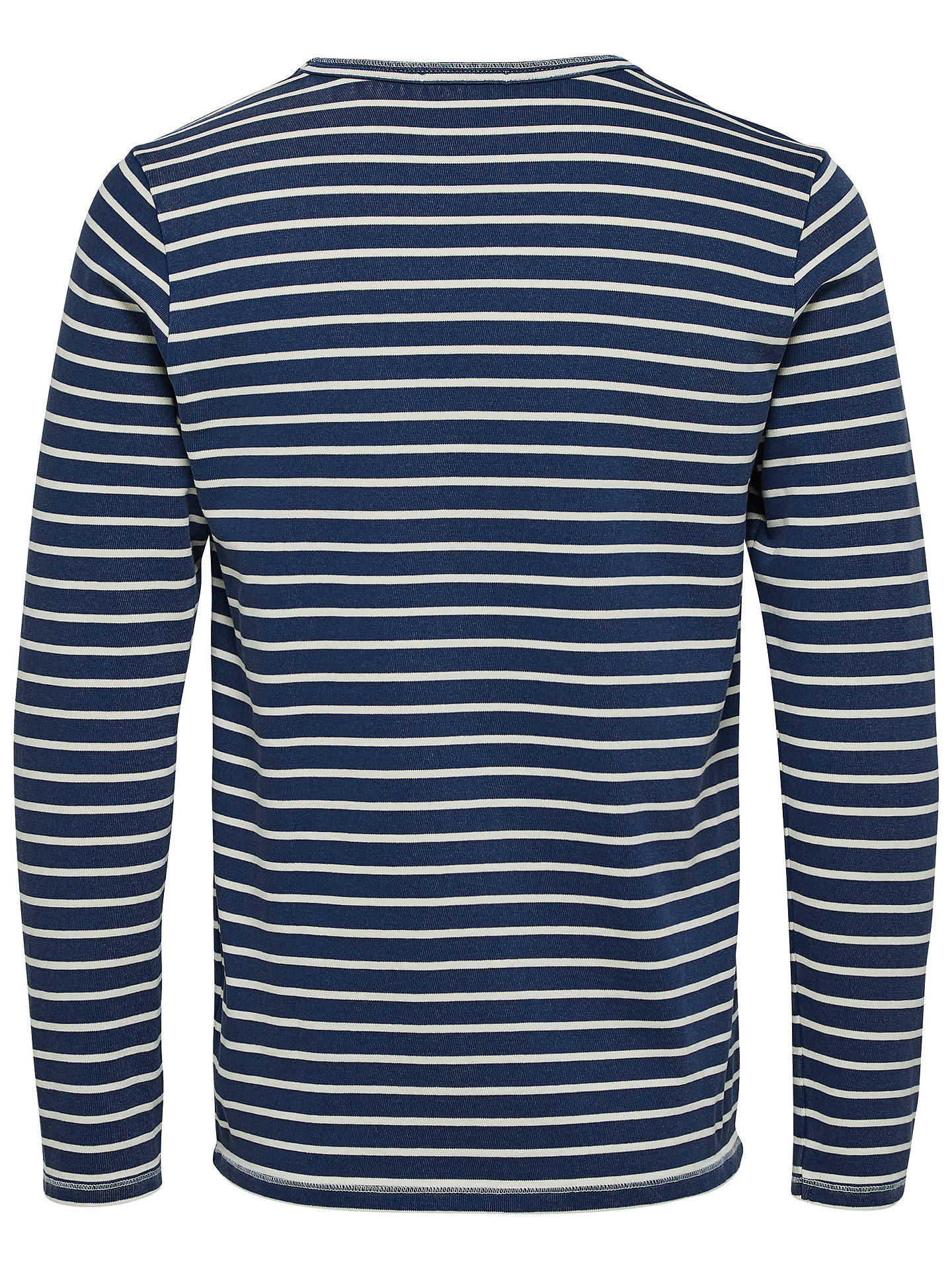 Buy Selected Homme Shore Long Sleeve Stripe T-Shirt, Estate Blue, S Online at johnlewis.com