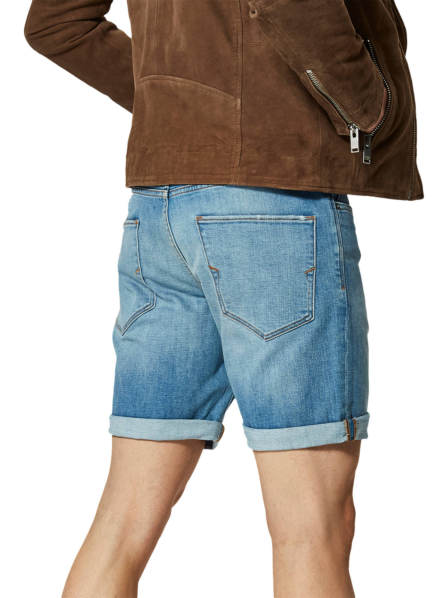BuySelected Homme Alex Denim Shorts, Light Blue Denim, S Online at johnlewis.com