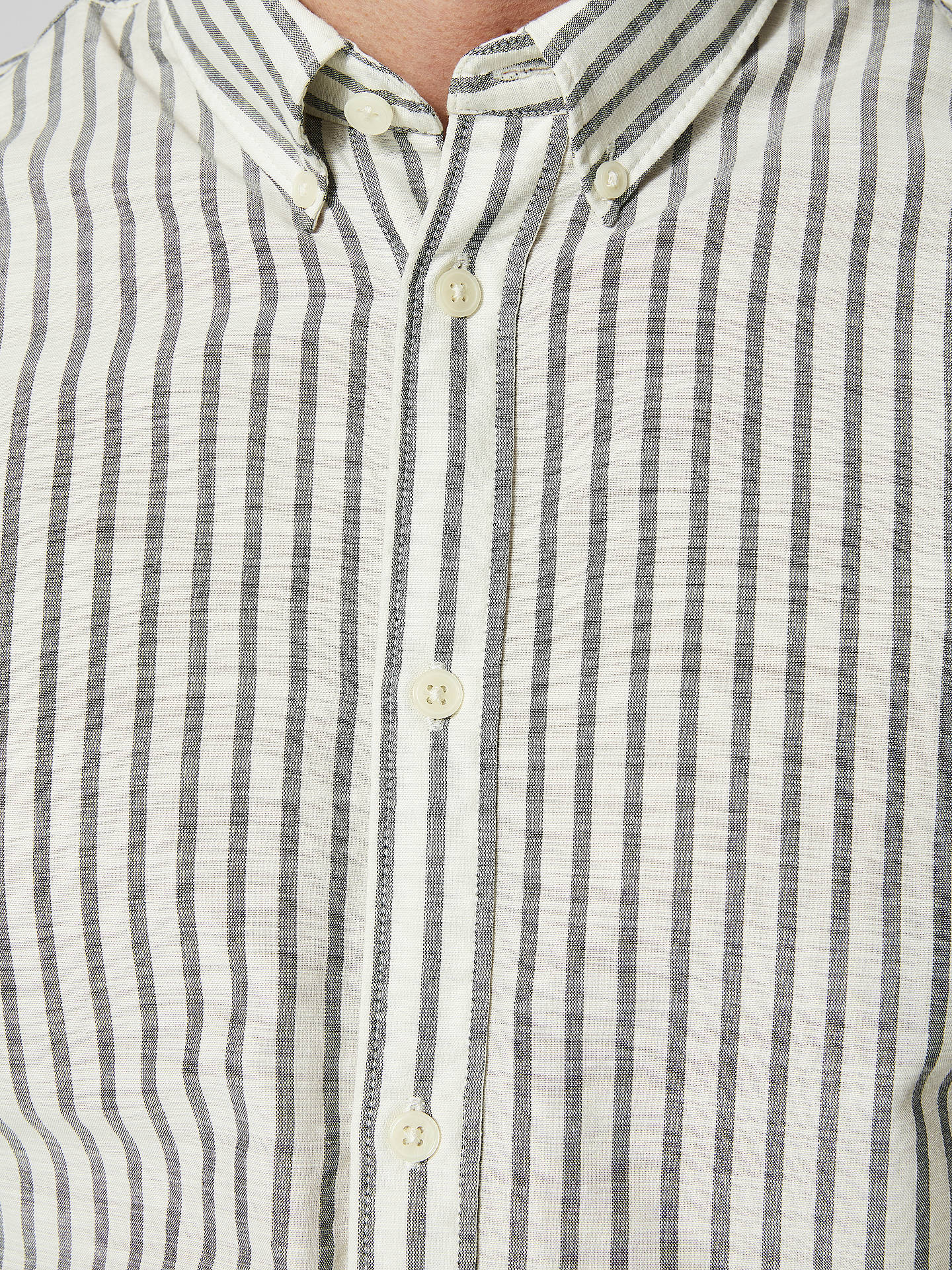 Buy Selected Homme Twowilliam Short Sleeve Stripe Shirt, White/Indigo, S Online at johnlewis.com