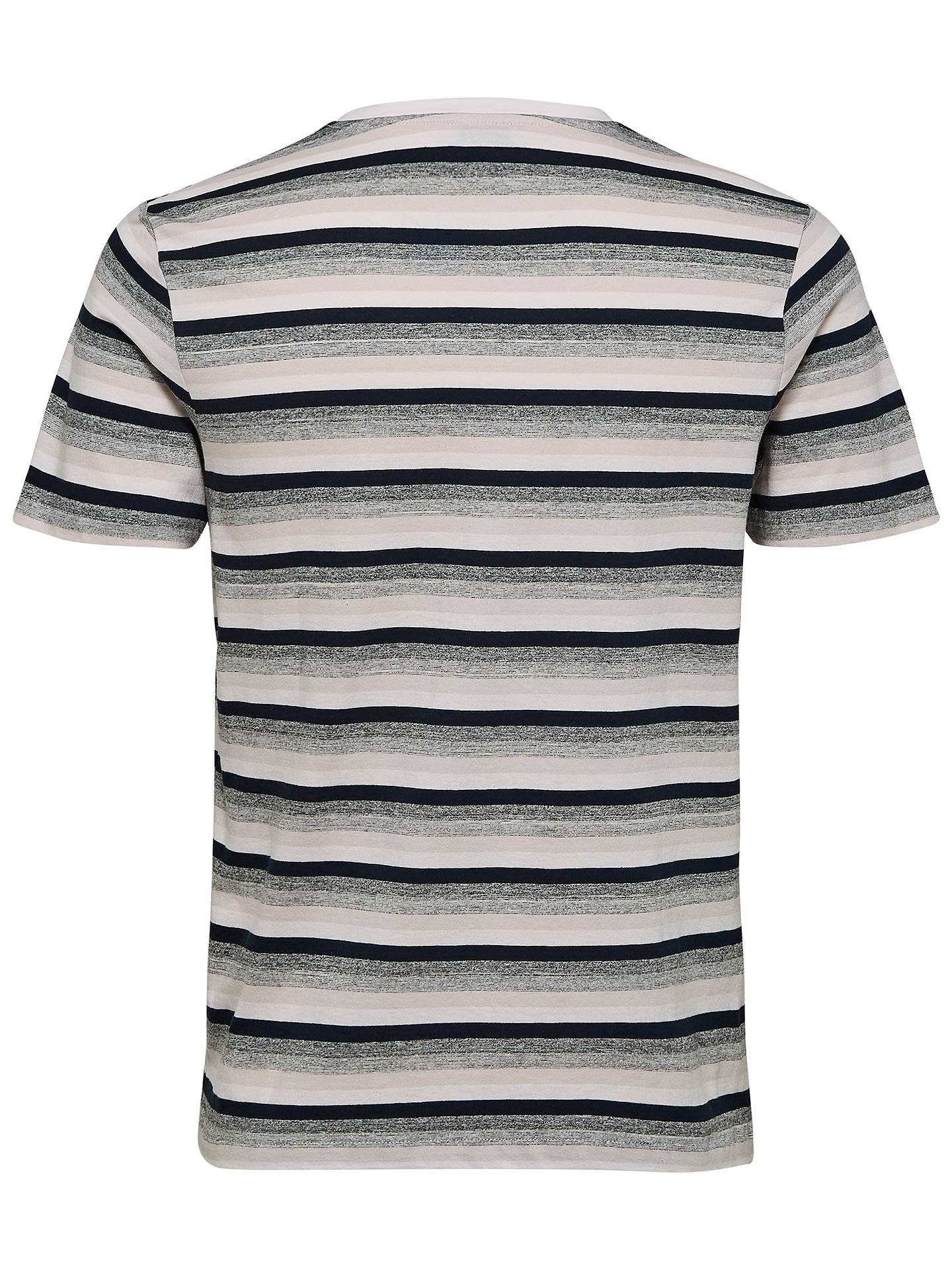 Buy Selected Homme Sunny Striped T-Shirt, Hushed Violet, S Online at johnlewis.com