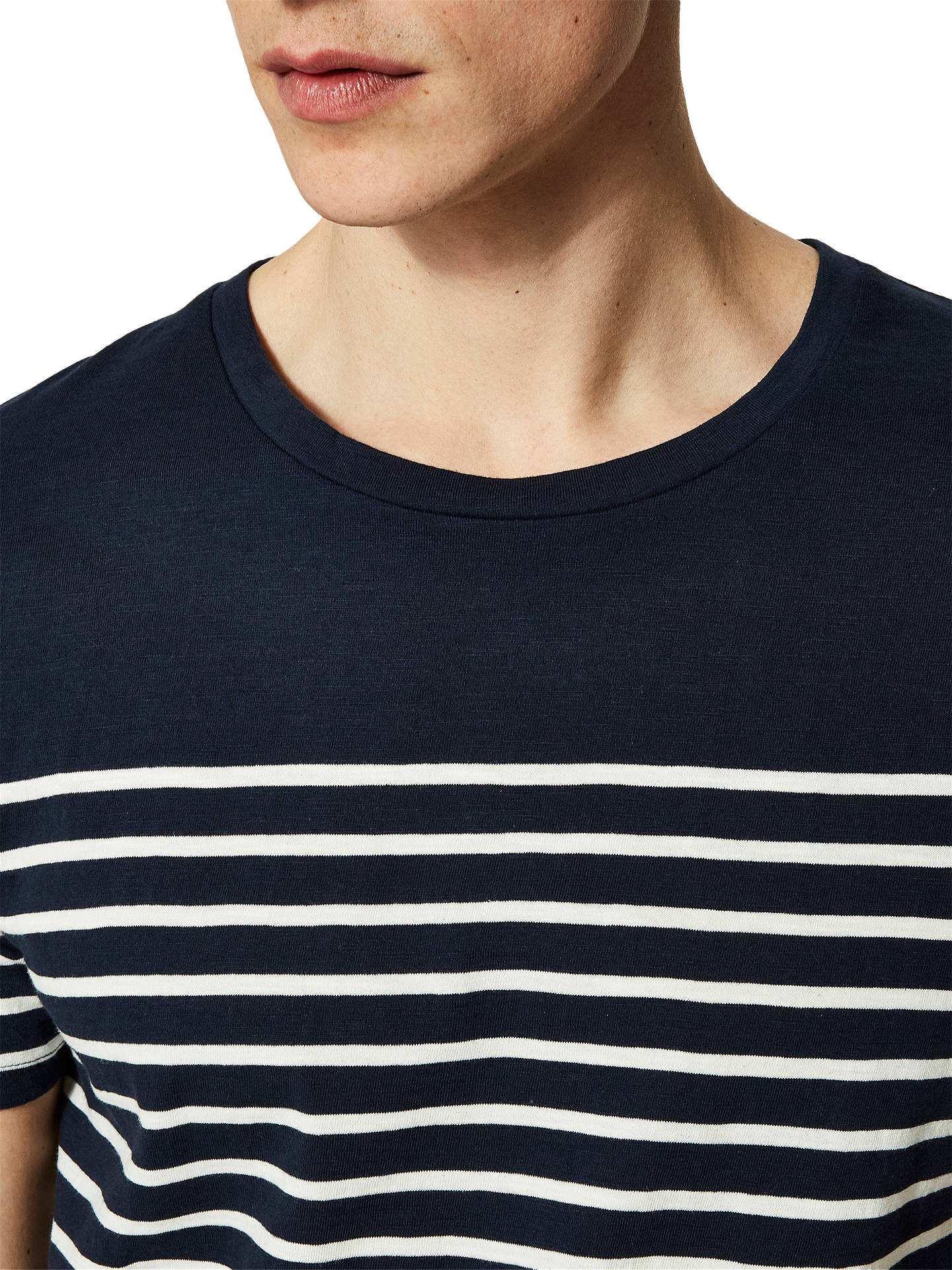 BuySelected Homme Class Stripe T-Shirt, Dark Sapphire, S Online at johnlewis.com