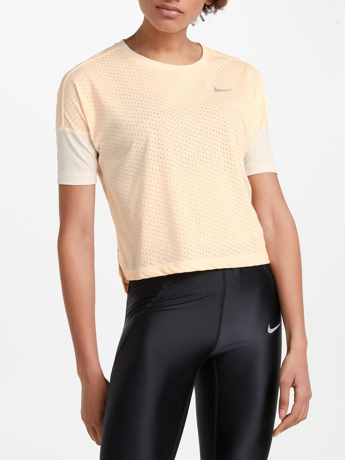 0d8e5d2dfe Buy Nike Breathe Tailwind Short Sleeve Running Top, Crimson Tint, XS Online  at johnlewis ...