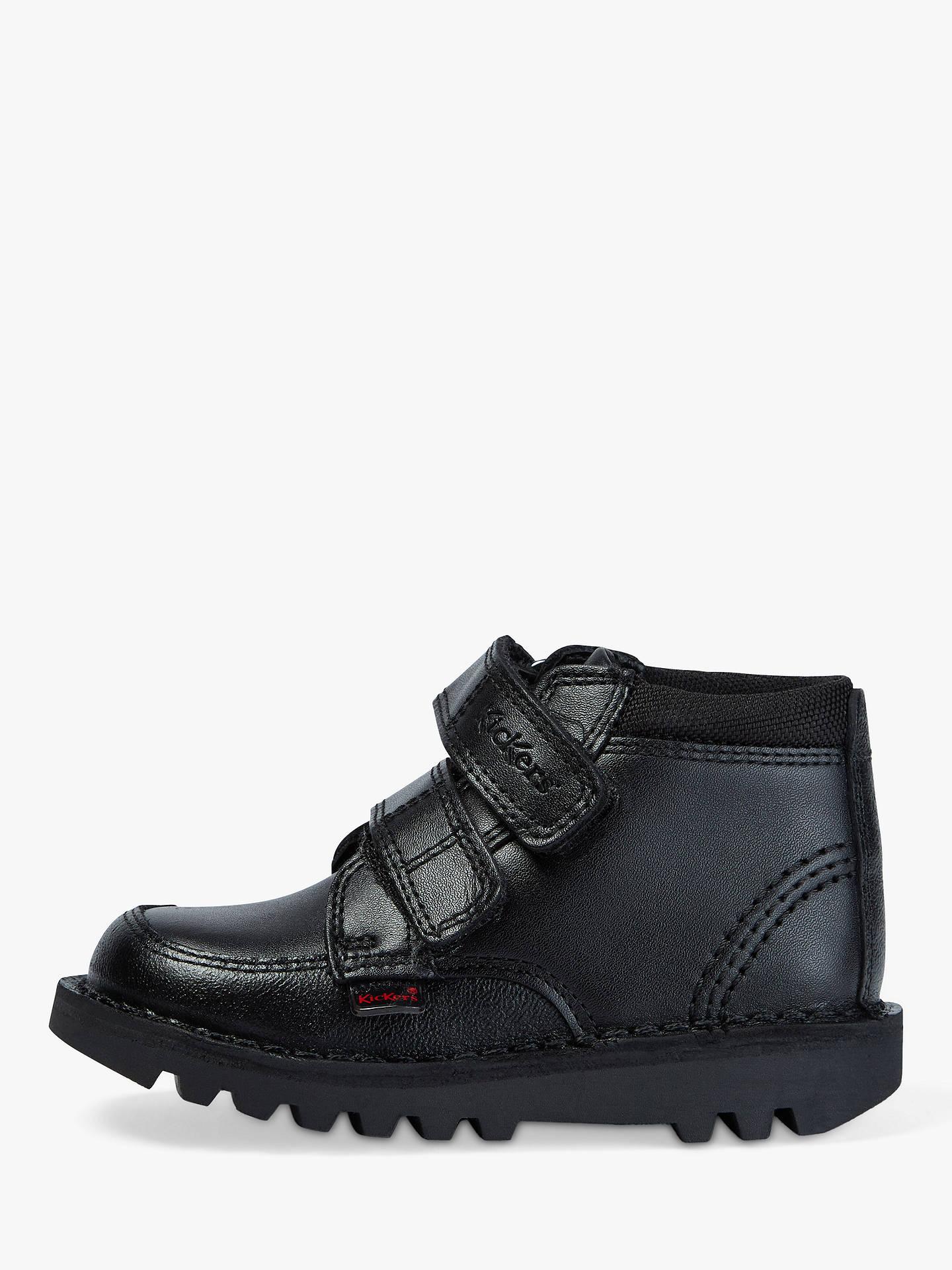 5bbbe653e Buy Kickers Children's Scuff Hi Shoes, Black, 25 Online at johnlewis.com