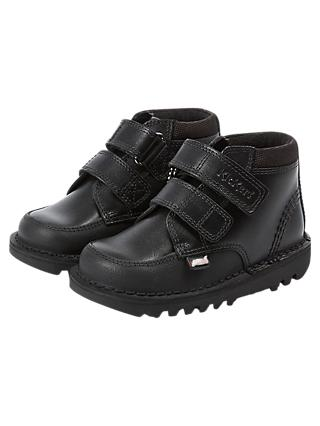 Kickers Children's Scuff Hi Shoes, Black