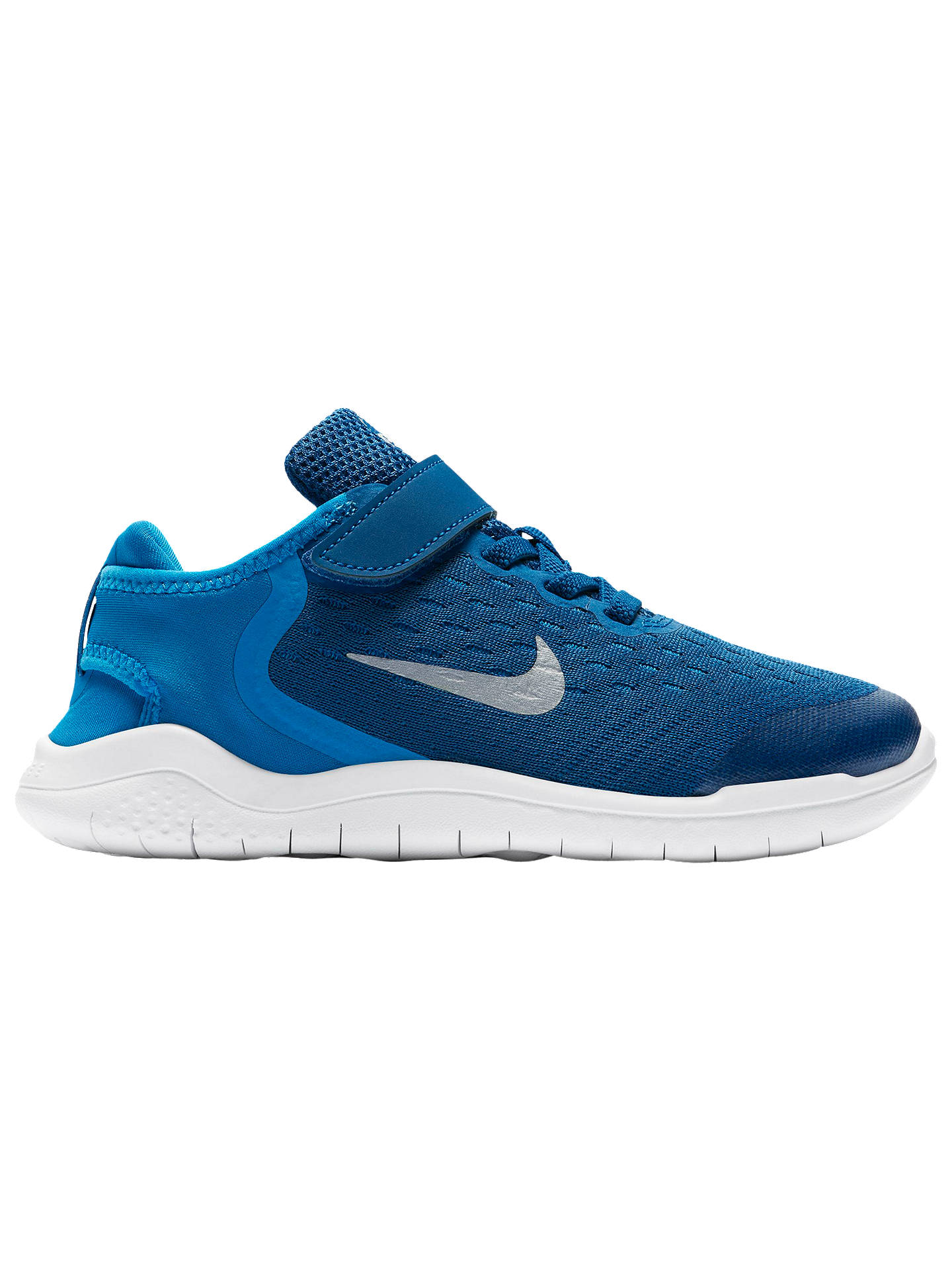 new style 0e958 d58f8 Buy Nike Children s Free RN 2018 Riptape Trainers, Blue, 10 Jnr Online at  johnlewis ...