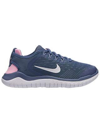 Nike Children's Free RN Trainers, Blue/Pink