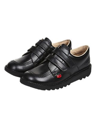 Kickers Children's Kick Lo-Top Riptape Shoes, Black