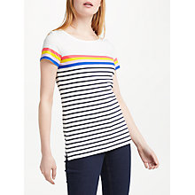 Buy Boden Short Sleeve Breton T-Shirt, Ivory/Multi Online at johnlewis.com