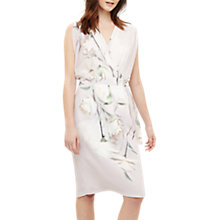Buy Phase Eight Sorell Wrap Floral Dress, Pale Iris Online at johnlewis.com