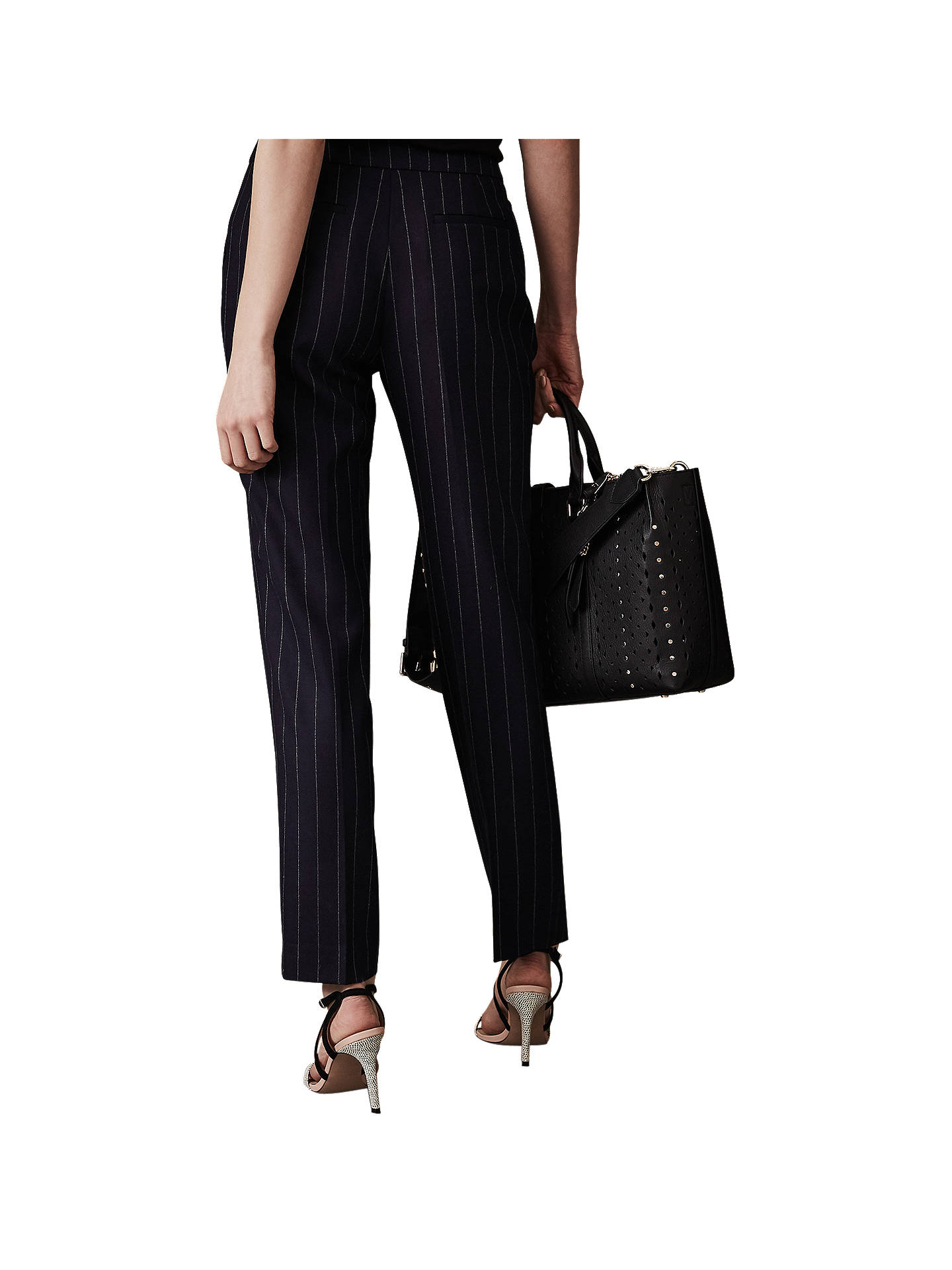 Buy Reiss Piper Tailored Trousers, Navy, 6 Online at johnlewis.com