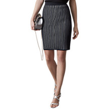 Buy Reiss Isabelle Stripe Rib Skirt, Night Navy Online at johnlewis.com