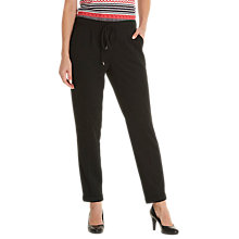 Buy Betty Barclay Pull-On Crepe Trousers, Black Online at johnlewis.com