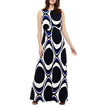 Buy Phase Eight Circles Print Maxi Dress, Blue Online at johnlewis.com