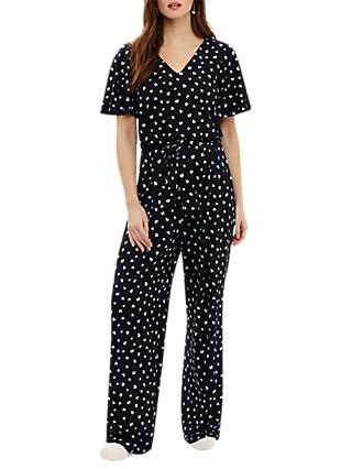 Phase Eight Laila Spot Print Jumpsuit, Navy/Multi