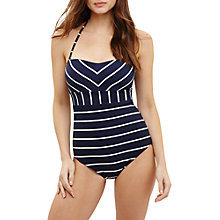 Buy Phase Eight Stephanie Striped Swimsuit, Navy/Ivory Online at johnlewis.com