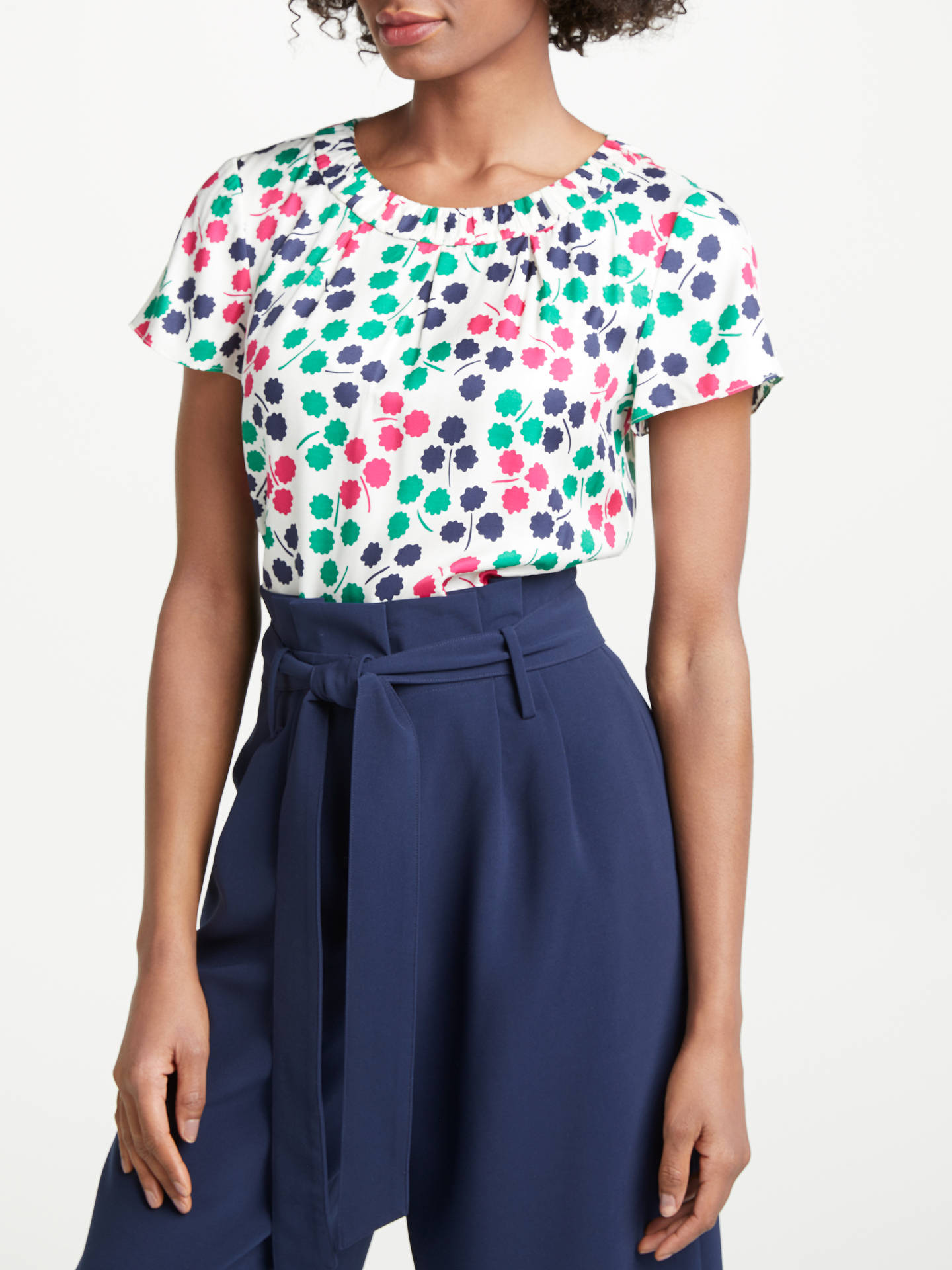 BuyBoden Carey Top, Ivory/Pretty Posy, 10 Online at johnlewis.com