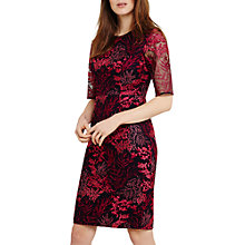 Buy Phase Eight Fern Embroidered Dress, Navy/Fuchsia Online at johnlewis.com