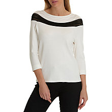 Buy Betty Barclay Fine Knit Jumper, Cream/Black Online at johnlewis.com
