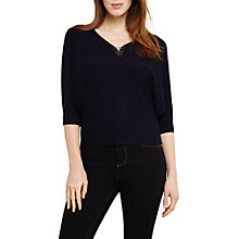 Buy Phase Eight Cristine Metal Trim Jumper, Navy Online at johnlewis.com