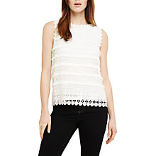 Buy Phase Eight Melissa Lace Blouse, Ivory Online at johnlewis.com