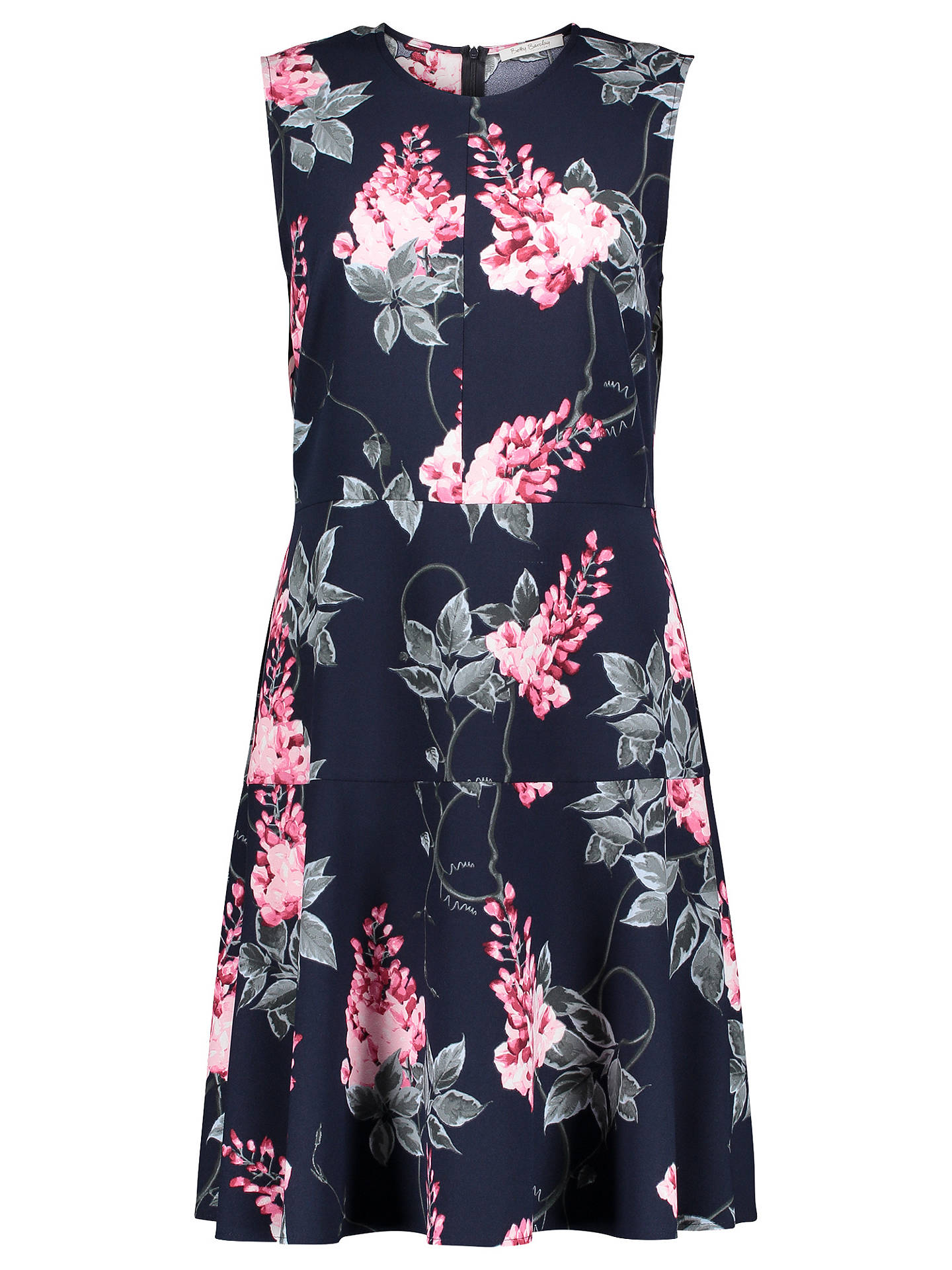 Buy Betty Barclay Floral Jersey Dress, Dark Blue, 10 Online at johnlewis.com