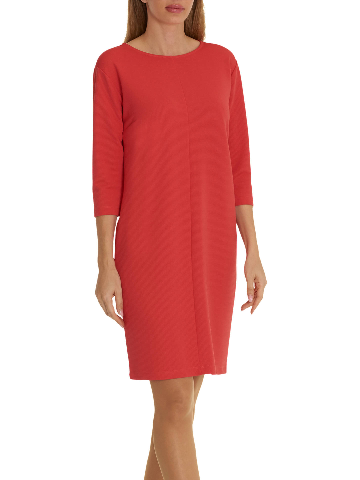 BuyBetty Barclay Fine Ribbed Dress, Coral Red, 16 Online at johnlewis.com