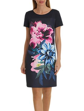 Betty Barclay Floral Print Jersey Dress, Dark Sky