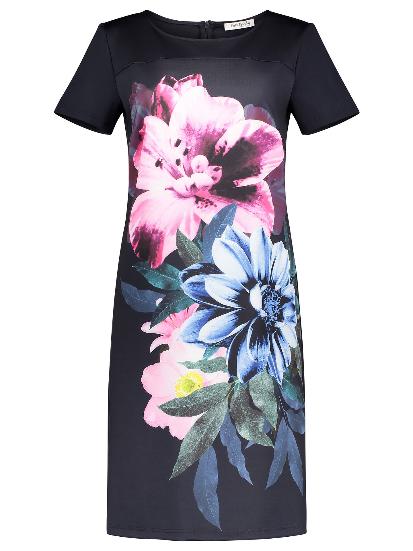 BuyBetty Barclay Floral Print Jersey Dress, Dark Sky, 10 Online at johnlewis.com