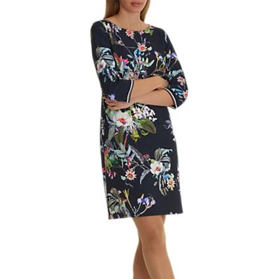 Betty Barclay Floral Print Dress, Dark Blue/Pink