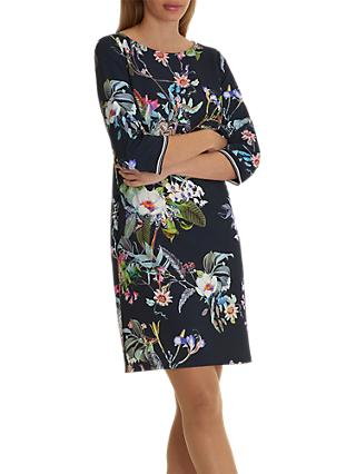 Betty Barclay Floral Print Dress, Dark Blue/Pink