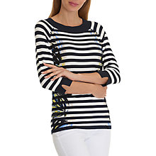 Buy Betty Barclay Graphic Stripe Jumper, Dark Blue/Cream Online at johnlewis.com