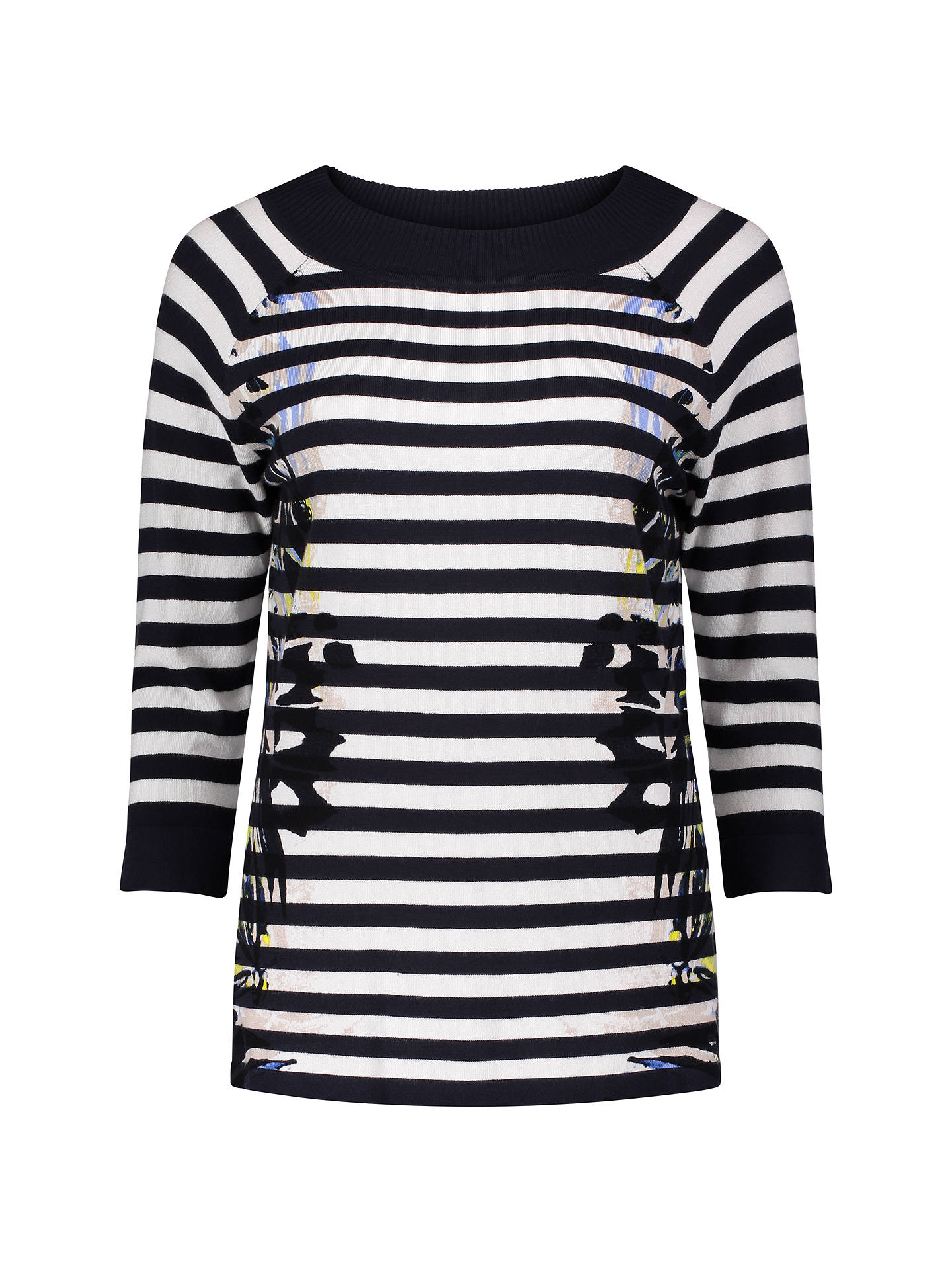 Buy Betty Barclay Graphic Stripe Jumper, Dark Blue/Cream, 10 Online at johnlewis.com