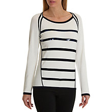 Buy Betty Barclay Embellished Jumper, Cream/Dark Blue Online at johnlewis.com
