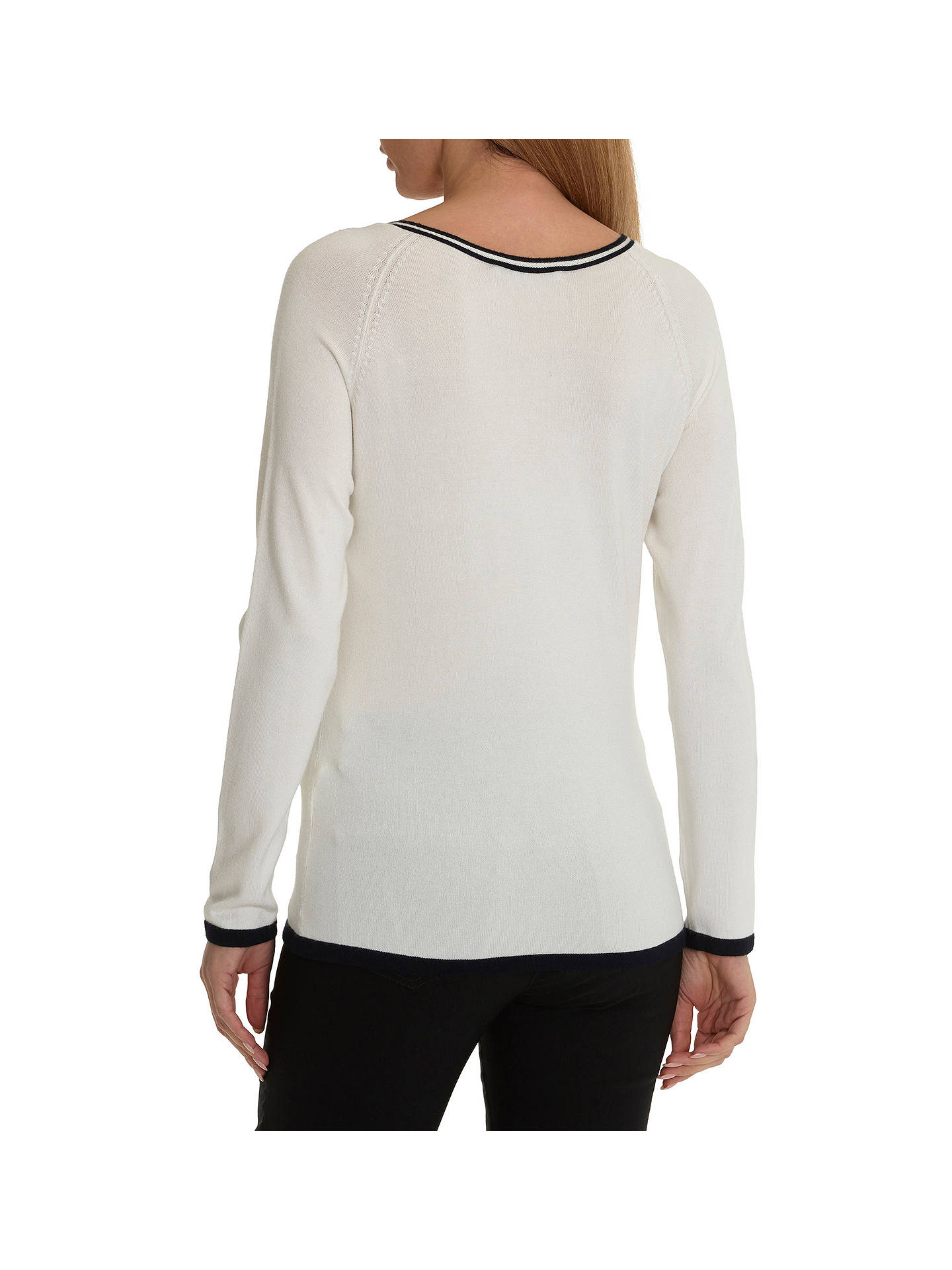 Buy Betty Barclay Embellished Jumper, Cream/Dark Blue, 10 Online at johnlewis.com