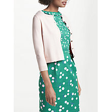 Buy Boden Favourite Crew Neck Cardigan, Pink Frosting Online at johnlewis.com