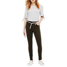 Buy Phase Eight Jenna Belted Jeans, Green Online at johnlewis.com