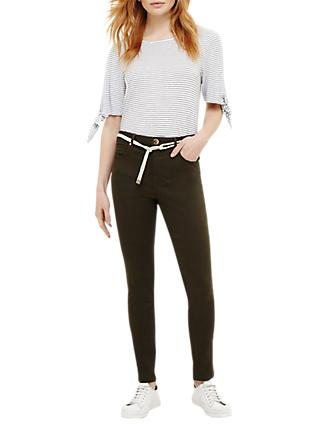 Phase Eight Jenna Belted Jeans, Green