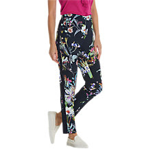 Buy Betty Barclay Floral Print Trousers, Dark Blue/Pink Online at johnlewis.com