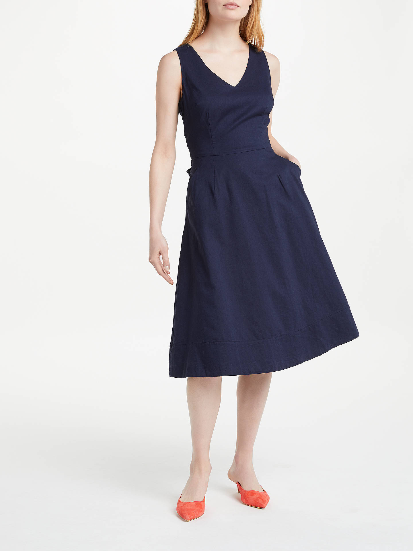 Buy Boden Jade Dress, Navy, 8 Online at johnlewis.com