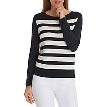 Buy Betty Barclay Striped Ribbed Jumper, Dark Blue/Cream Online at johnlewis.com