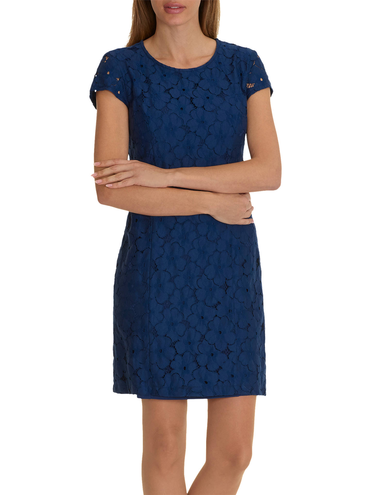 BuyBetty Barclay Lace Shift Dress, Morning Sky, 10 Online at johnlewis.com