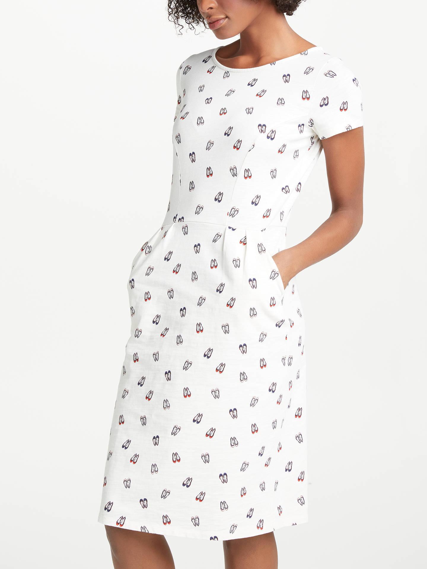48faaf17 Buy Boden Phoebe Jersey Dress, Ecru Ballet Slippers, 8 Online at  johnlewis.com ...