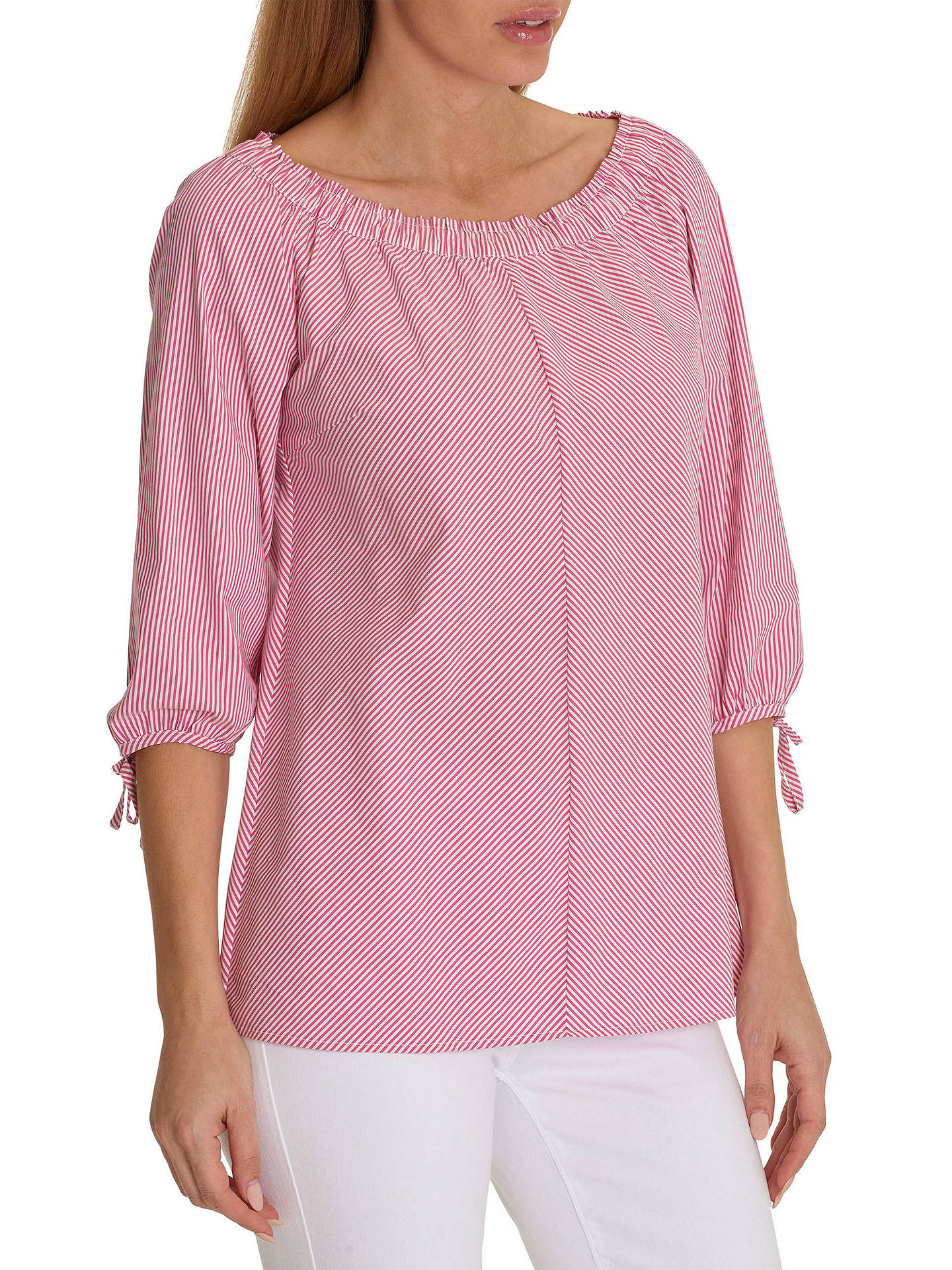 cfd07148684a4e Buy Betty Barclay Tie Sleeve Striped Blouse, Pink/Cream, 10 Online at  johnlewis ...